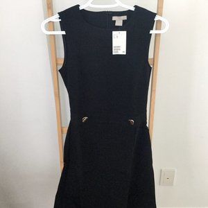 H&M Black Sleeveless Fitted Dress